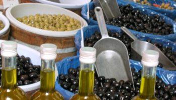 Huile d'olive sur le marché