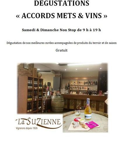 Dégustations «accords mets et vins» à La Suzienne à Suze-la-Rousse - 0