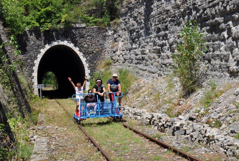 Vélorail du Sud Ardèche à Saint-Jean-le-Centenier - 0