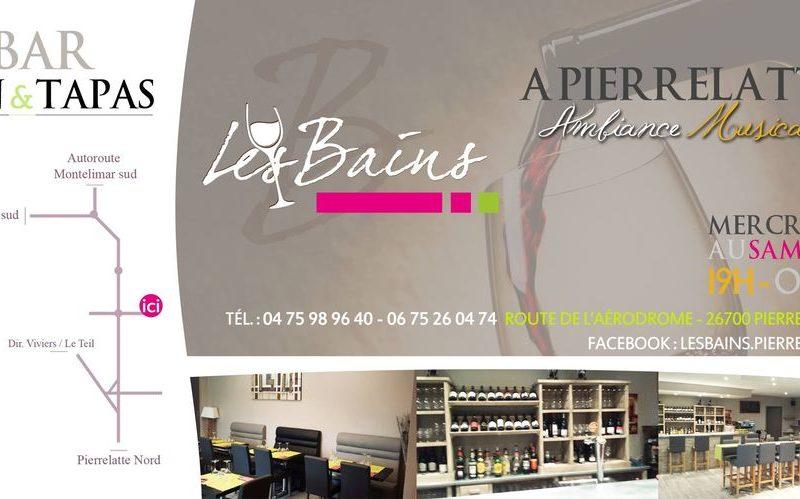 Bar ambiance Les Bains à Pierrelatte - 0